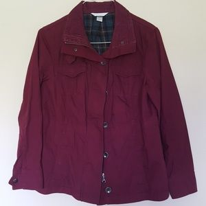 Christopher & Banks Wine Red jacket size M